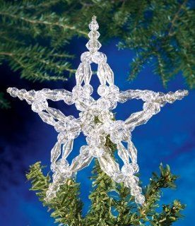The Beadery Holiday Beaded Ornament Kit Crystal Star Tree Topper 7' Makes 1