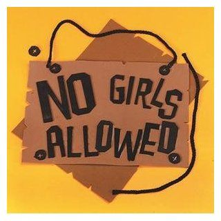S&S Worldwide No Girls Allowed Sign Craft Kit (Makes 12): Toys & Games