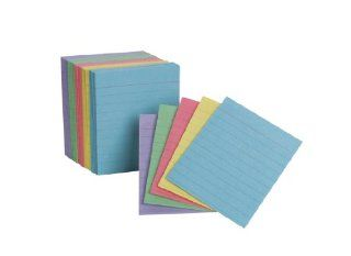 Oxford Half Size Index Cards, Assorted Colors, 3 x 2.5, Ruled, 200 Pack : Office Products