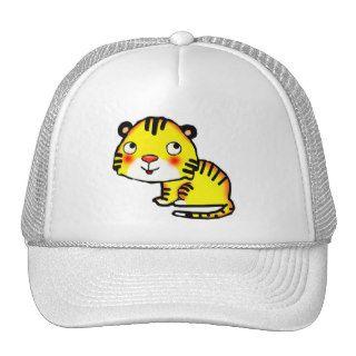 cute cartoon baby tiger trucker hat