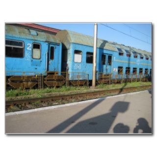 Romanian Train Postcards