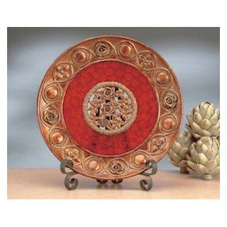 """Red Rose D�cor Charger Plate 16""""d   Decorative Plates"""