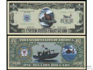 US COAST GUARD MILLION DOLLAR BILL (w/protector): Everything Else