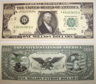 Set of 10 Bills Patriot Million Dollar Bill Toys & Games