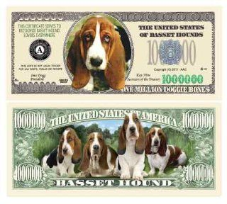 BASSET HOUND MILLION DOLLAR BILL (w/Protector)