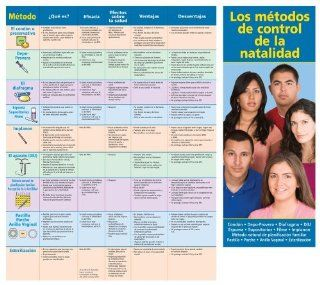 Pregnancy Prevention: Birth Control Facts Pamphlet (Spanish version) / Fold Out Chart (Set of 50) Los metodos de control de la natalidad. : Office Products : Office Products