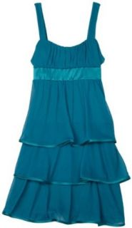 Ruby Rox  Girls 7 16 Tiered Dress With Emma Top,Teal/Mint,Small: Clothing