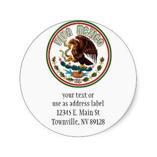 Viva Mexico  (Eagle Mexican Flag) Stickers