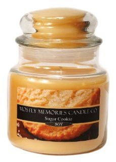 Mostly Memories Sugar Cookie 20 Ounce Lid Lites Soy Candle   Jar Candles