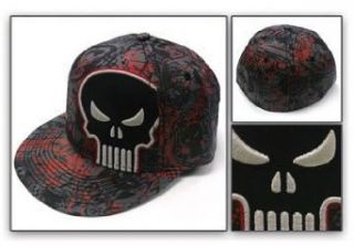 The Punisher 3D Dark Skull Flat bill Baseball Hat: Clothing