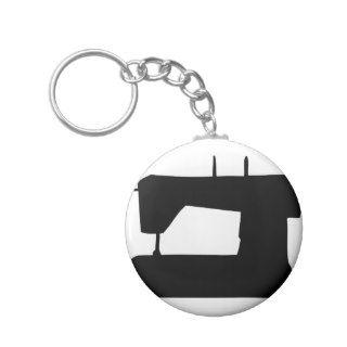 sewing machine silhouette key chains