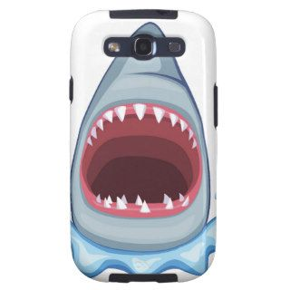 vectorstock_383155 Cartoon Shark Teeth hungry Samsung Galaxy S3 Covers