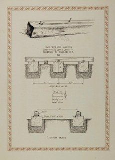 1926 John B. Jervis Railroad Track NYC Diagram Print   Original Print