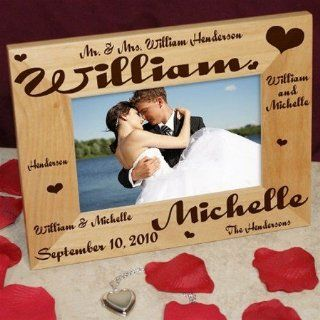 WEDDING PHOTO FRAME GIFT MR AND MRS PERSONALIZED FREE