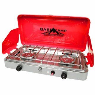 Basecamp by Mr. Heater High Output 2 Burner Stove (Red) : Camping Stoves : Sports & Outdoors