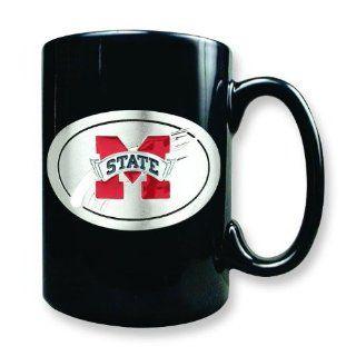 Mississippi State University Black Coffee Mug 15oz Kitchen & Dining