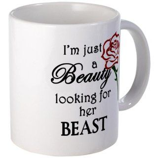 Beauty Looking for Beast Mug Mug by  Kitchen & Dining