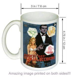 Vintage Movie COFFEE MUG Ian Flemings James Bond Dr No Kitchen & Dining