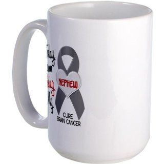CafePress Missing 1 Nephew BRAIN CANCER Large Mug Large Mug   Standard: Kitchen & Dining