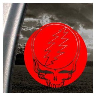Grateful Dead Red Decal Steal Your Face Band Car Red Sticker   Themed Classroom Displays And Decoration