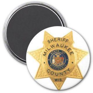 SHERIFF MILWAUKEE COUNTY WISCONSIN BADGE REFRIGERATOR MAGNET