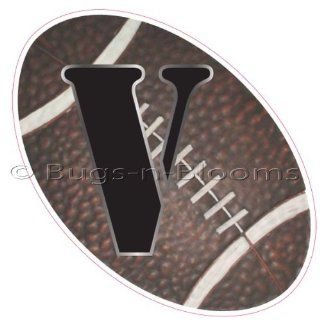 """""""V"""" Football Alphabet Letter Name Wall Sticker (6"""" W x 6""""H)   Decal Letters for Children's, Nursery & Baby's Sport Room Decor, Baby Name Wall Letters, Boys Bedroom Wall Letter Decorations, Child's Names. Sports Balls Mur"""