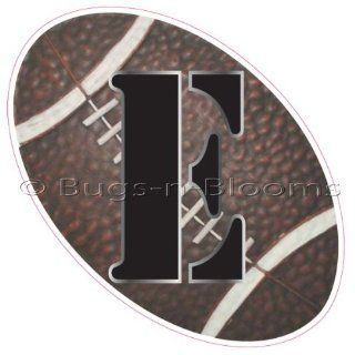 """""""E"""" Football Alphabet Letter Name Wall Sticker (6"""" W x 6""""H)   Decal Letters for Children's, Nursery & Baby's Sport Room Decor, Baby Name Wall Letters, Boys Bedroom Wall Letter Decorations, Child's Names. Sports Balls Mur"""