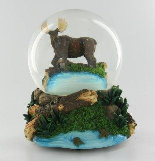 Moose Snow Globe Hunter Kids Lodge Cabin Decoration