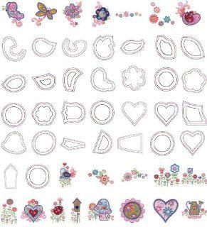 OESD Embroidery Machine Designs CD GARDEN CHARM