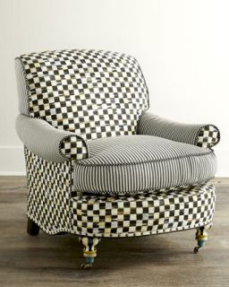 Courtly Check Underpinnings Club Chair   MacKenzie Childs