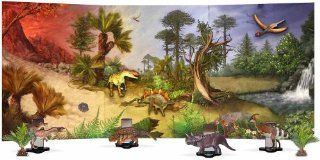Dinosaur Magnet Board Diorama Nearly 3' Long: Toys & Games