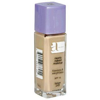 Almay Nearly Naked Makeup with SPF 15, Beige 240, 1 Ounce Bottle : Foundation Makeup : Beauty