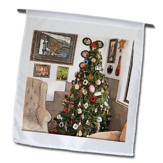 fl_52595_1 Jos Fauxtographee Holiday   A Christmas Tree Decorated With Jesus Christ at The Top of It In a Corner of The Room Near Chairs   Flags   12 x 18 inch Garden Flag : Outdoor Flags : Patio, Lawn & Garden