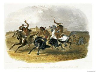 Horse Racing of Sioux Indians Near Fort Pierre Giclee Print Art (16 x 12 in) : Everything Else