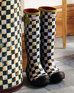 Courtly Check Hunter Boots   MacKenzie Childs