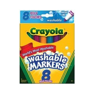 Bulk Buy: Crayola Broad Line Washable Markers 8/Pkg Bold Colors 58 7832 (3 Pack): Toys & Games