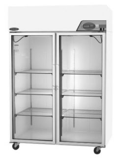 "Nor Lake Scientific NSSR522WWG/0 Select Galvanized Steel Painted White Laboratory and Pharmacy Refrigerator with 2 Glass Doors, 115V, 60Hz, 52 cu ft Capacity, 55"" W x 79 5/8"" H x 35 1/2"" D, 2 to 10 Degree C: Science Lab Refrigerators: Indust"
