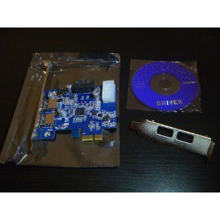 2 Port USB3.0 USB 3.0 to PCI E PCI Express Card Adapter Converter w/ Motherboard 20P 20 pin Connector & Low Profile Bracket, NEC Renesas D720201 Chipset: Computers & Accessories
