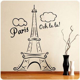 Paris Eiffel Tower Ooh La La Wall Decal Decor France Love Hearts Large Nice Sticker   Other Products