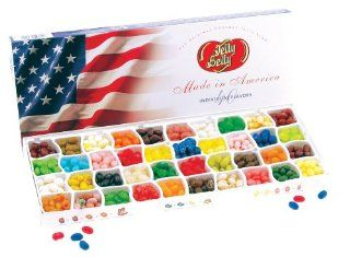 Jelly Belly Patriotic Flag 40 flavor Gift Box : Jelly Beans : Grocery & Gourmet Food