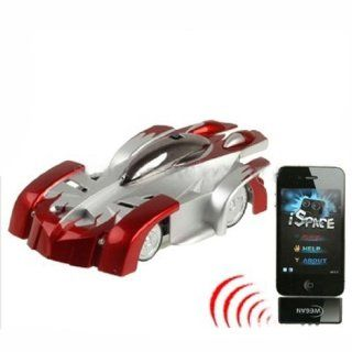 Generic Red Iw500 Wall Climbing Rc Funny Car With Light For Iphone Ipad Ipod Toys & Games