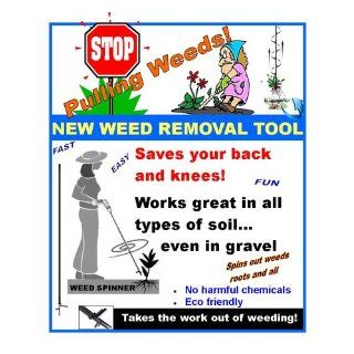 Weed Spinner Weed Removal Tool : Lawn And Garden Hand Tools : Patio, Lawn & Garden