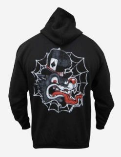 Mens Wolf by Lefty Joe Old School Flash Art Tattoo Artwork Black Hoodie at  Men�s Clothing store: Fashion Hoodies