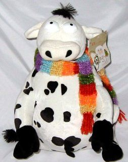 "12"" Once Upon a Holiday Lily Cow Plush: Toys & Games"