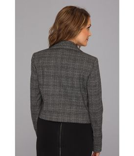 Nine West Plaid Double Breasted Jacket Black Multi