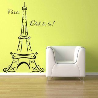 Eiffel Tower Ooh La La Paris Vinyl Wall Decal Sticker Home Decor 3ft   Other Products