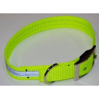Sav A Jake Firefighter Gear Tools K 9 Reflective Dog Collar Hot Neon Yellow W/3M Silver Reflective & Metal Buckle X LARGE: Industrial & Scientific