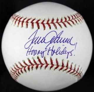 """METS TOM SEAVER """"HAPPY HOLIDAYS"""" SIGNED AUTHENTIC OML BASEBALL MLB #BB183778 at 's Sports Collectibles Store"""