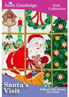 Anita Goodesign Embroidery Designs CD SANTAS VISIT   Embroidery Supplies