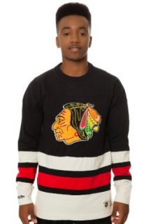 Mitchell & Ness Men's Chicago Blackhawks Line Change Long Sleeve Extra Extra Large Black: Sports & Outdoors